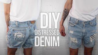 DISTRESSED DENIM (FOR $3!)   Mens Fashion