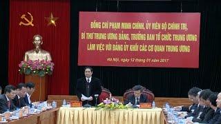 Trưởng Ban Tổ chức Trung ương làm việc với Đảng ủy khối các cơ quan Trung ương