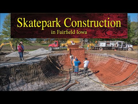 Skatepark Construction in Fairfield, Iowa