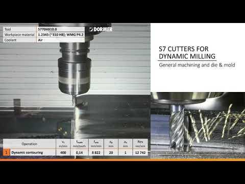 Dormer S7 solid carbide five-flute cutters