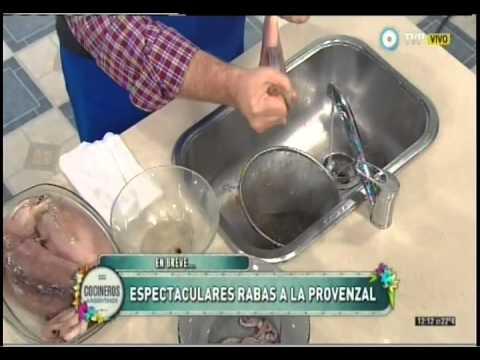 Técnica para limpiar calamares
