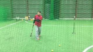 「トップの位置から左手(右打者は右手)でボールを投げる」(ブリスフィールド東大阪 野球教室 平下コーチ(元阪神タイガース)
