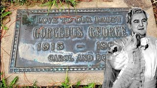 #886 The Grave of GORGEOUS GEORGE - The Most Famous Man on TV - Daily Travel Vlog (1/9/19)