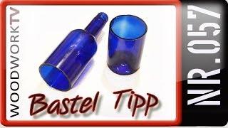 Glas- Wein- Sekt- Milch- Flasche Trennen Schneiden Halbieren