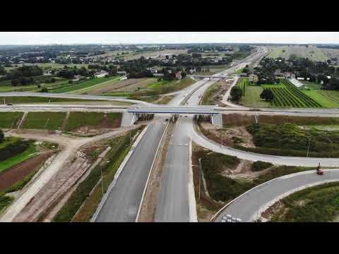 Planowana droga S19 odc. 3 obwodnica m. Kraśnik - widok lotniczy - sierpień 2021 r.