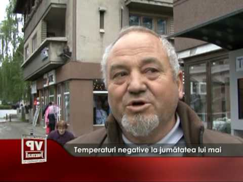 Temperaturi negative la jumătatea lui mai