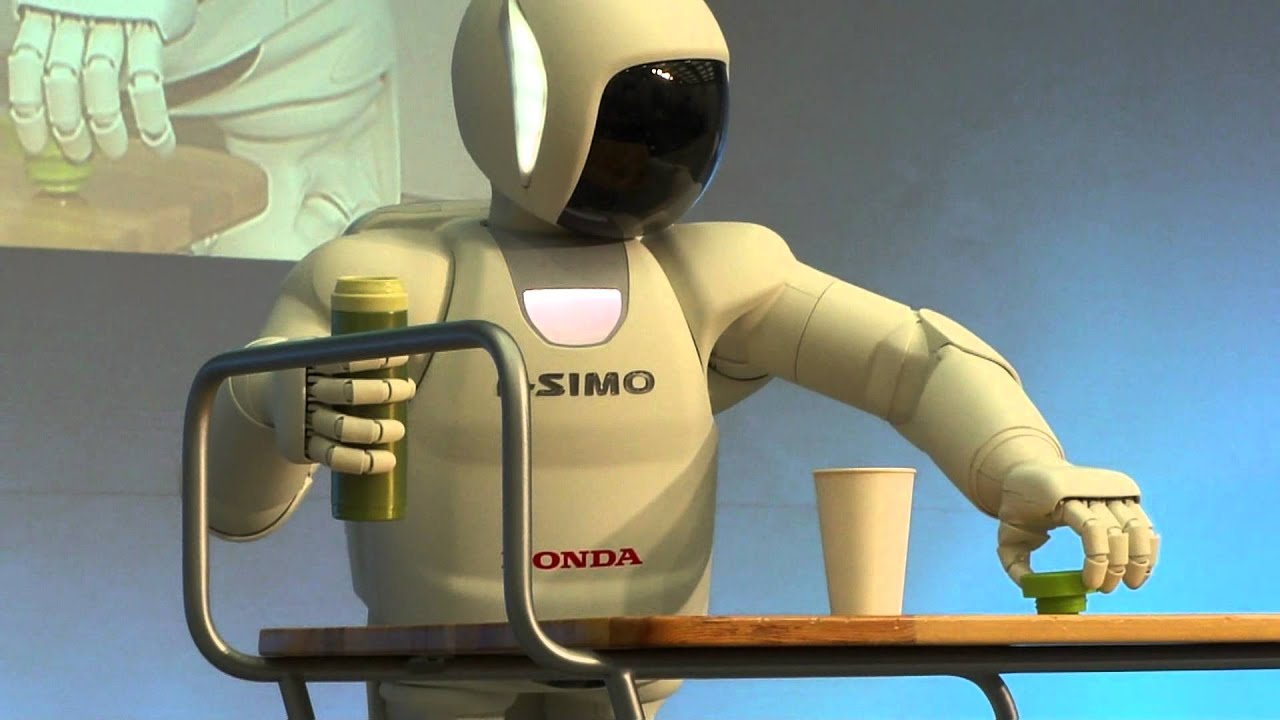 New And Improved Honda Asimo Pretends To Be A Bartender