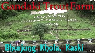 preview picture of video 'Gandaki Rainbow Trout Farm, Bhurjung Khola, Kaski'