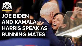 Joe Biden and Kamala Harris address the nation as running mates — 8/12/2020