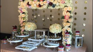 DIY- Dessert Table Decor DIY- Bling Decor Diy- Wedding Decor
