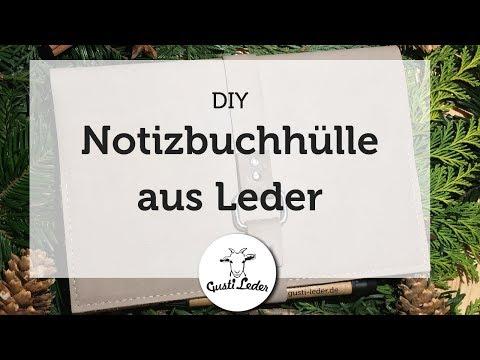 Notizbuchhülle für ein A5 Buch selber machen | DIY | Arbeiten mit Leder