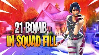 21 BOMB Gameplay! Fortnite OCE Player