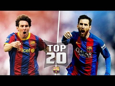 Lionel Messi Top 20 Goals out of all 500 For Barcelona (English Commentary)