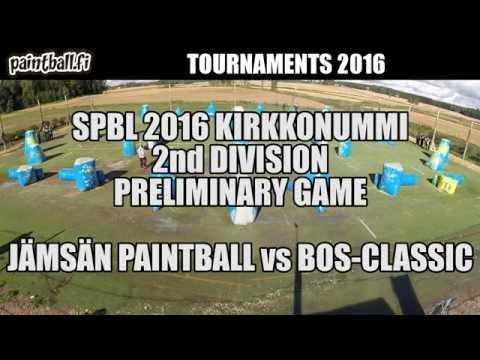 Jämsän Paintball vs BOS-Classic - SPBL2016 Kirkkonummi
