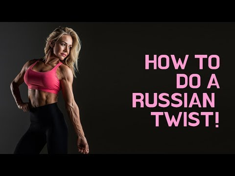 Russian Twist Exercise Demo