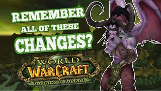 Some Of The Biggest Changes In TBC You May Have Forgotten About