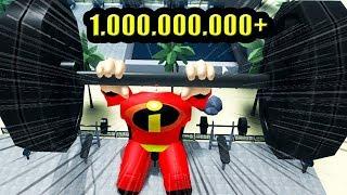 SENHOR INCRÍVEL LEVANTANDO 1 000 000 KG NA ACADEMIA Weight Lifting Simulator 3 ROBLOX