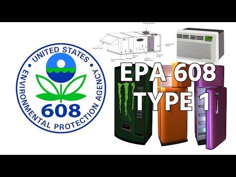 EPA 608 Prep - Type 1 - YouTube