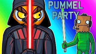 Pummel Party Funny Moments - Darth Vanoss Climbs the Ranks!
