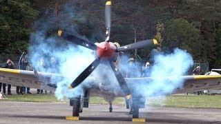 4Kᵁᴴᴰ  Supermarine Spitfire FR Mk.XVIIIe   AWESOME Rolls Royce Griffon SOUND!!!