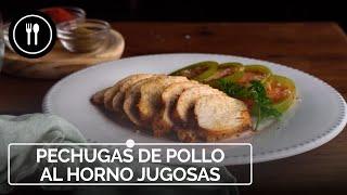 PECHUGAS DE POLLO AL HORNO JUGOSAS | Instafood