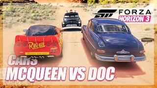 Forza Horizon 3 - Cars Recreation!! (McQueen vs Doc Hudson)