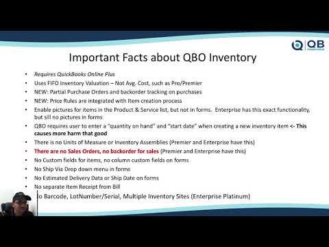 QB POWER HOUR: Managing Inventory in QuickBooks Online