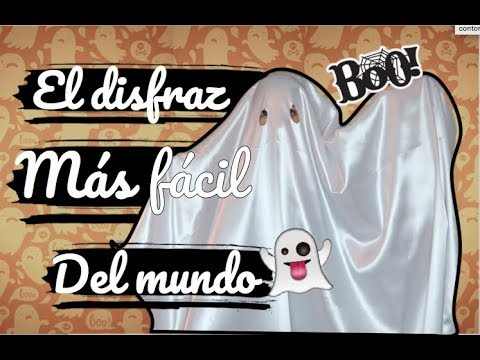 DISFRAZ DE FANTASMA SUPER FACIL