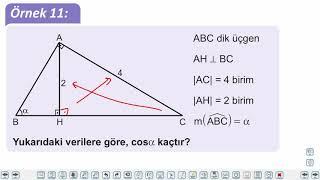Eğitim Vadisi TYT Geometri 8.Föy Dik Üçgende Dar Açıların Trigonometrik Oranları Konu Anlatım Videoları