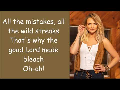 Miranda Lambert ~ It All Comes Out In The Wash (Lyrics)