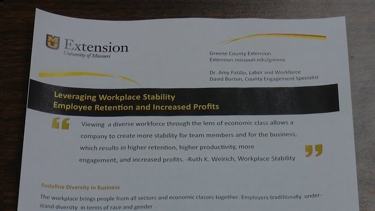 University of Missouri Extension Helps Businesses Retain Employees