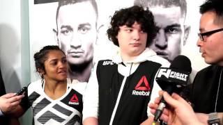 Viviane Pereira - UFC 206 post-fight media scrum
