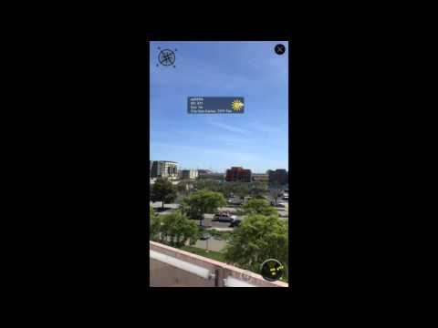 Augmented Reality based Swift app with Weather Data Integrated