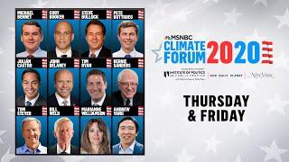 Watch Live: MSNBC's Climate Forum 2020 (DAY 2)   MSNBC