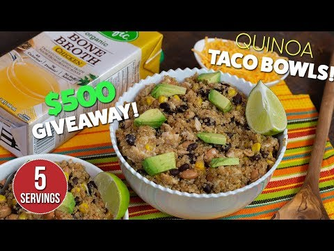 Download Protein Packed Spicy Quinoa TACO Bowls Recipe HD Mp4 3GP Video and MP3