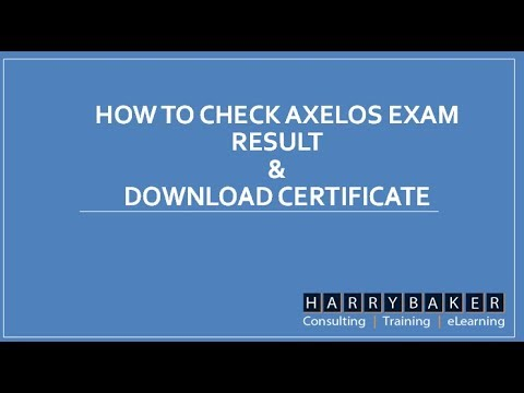 How to check AXELOS EXAM result & DOWNLOAD CERTIFICATE ...