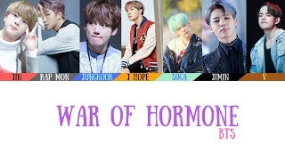 Gambar cover BTS(방탄소년단) - War of Hormone(호르몬 전쟁) Lyrics [Color Coded_Han_Rom_Eng]