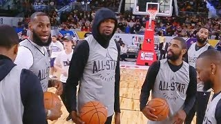 Half Court Shot Contest! LeBron James vs Kevin Durant, Kyrie Irving, and Russell Westbrook