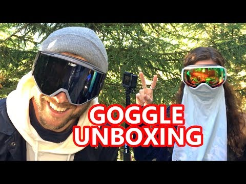 My Girlfriend Picks the BEST Goggles! Unboxing