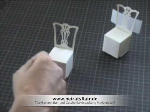 Tischkartenhalter Geschenkebox basteln