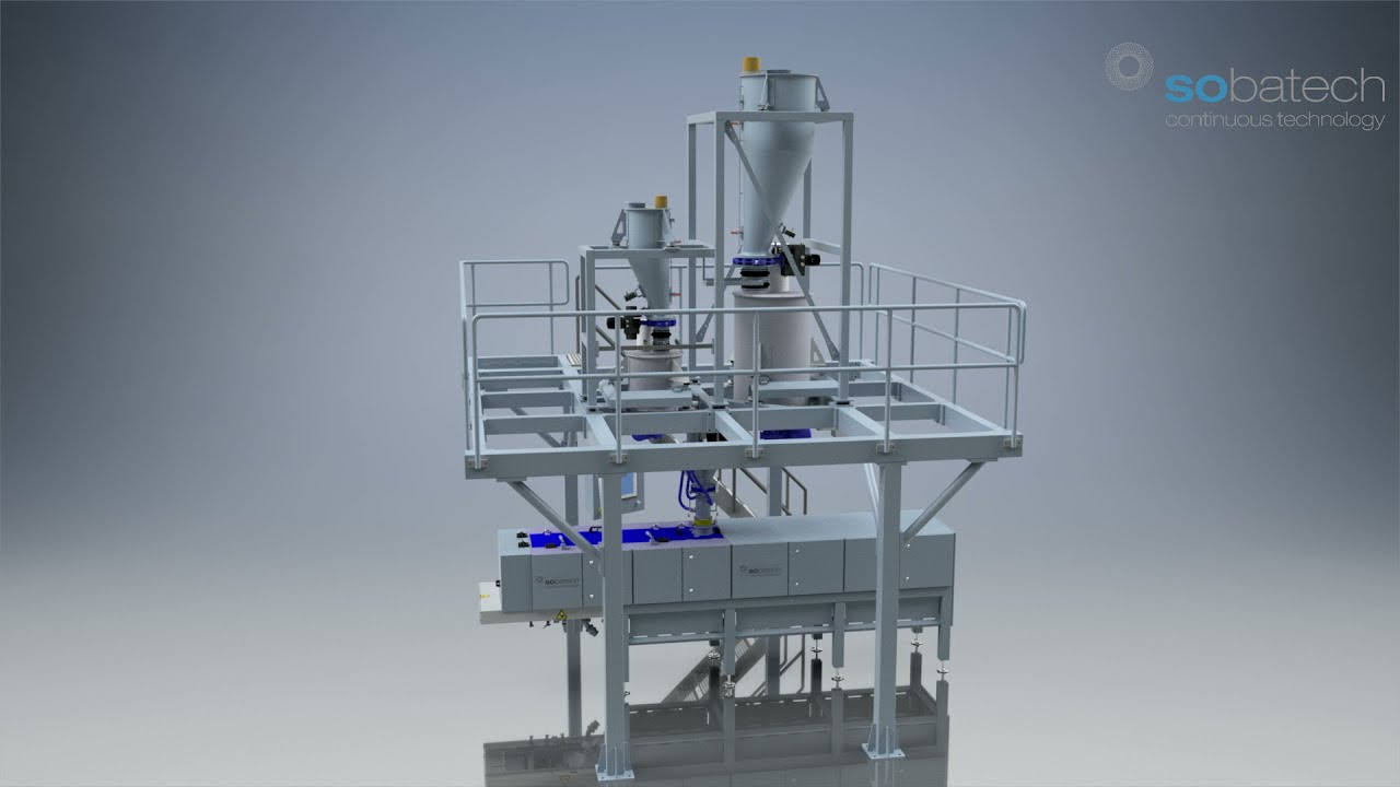 Layout continuous dosing and mixing