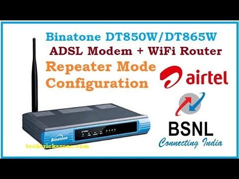 Airtel VDSL Binatone DT920W Configuration, Static IP, SIP, WPS