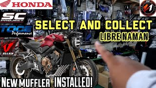 NEW UPGRADES INSTALLED TO MY HONDA CB 650R / NEW MUFFLER SOUND CHECK