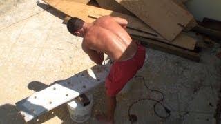 Jonathan Brown Making a climbing pegboard for Ninja Warriors