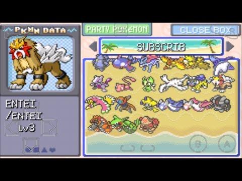 Pokemon Emerald All Legendary Pokemon Cheats codes(deyoxis,jirachi,ho oh etc) myboy