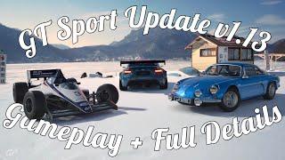 GT Sport Update V1.13 Full Details! + F1500 Gameplay!