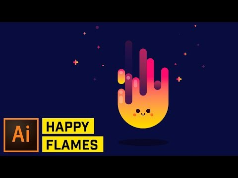 Happy Fire Artwork – Adobe Illustrator Tutorial