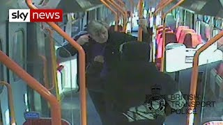 Man stabbed '18 times in 25 seconds' on train