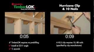 FastenMaster TimberLOK vs. Hurricane Ties - NEW