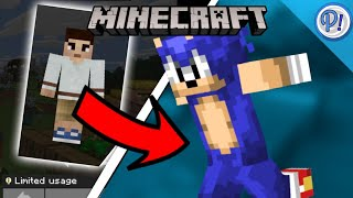 How To Download Sonic Skin In Minecraft | MCPE Sonic Minecraft Skin